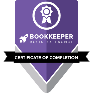 Bookkeeper Business Launch Certificate of Completion